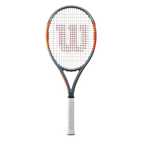 Wilson Raqueta de tenis unisex, Para jugadores de fondo, Para principiantes y jugadores intermedios, Burn Team 100 Lite, Medida 3, Gris/Naranja, WRT73890U3