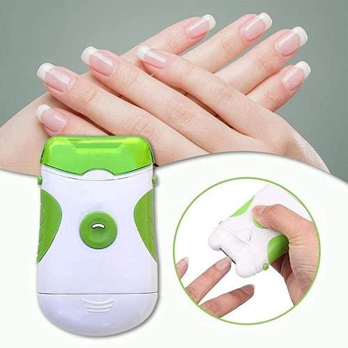 Cortaúñas eléctrico 2 en 1, cortador de uñas eléctrico y li-ma de uñas, li-ma de uñas para...