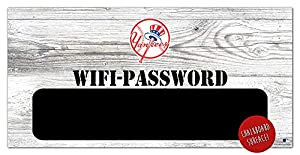 MLB New York Yankees Unisex New York Yankees WiFi Password Sign, Team Color, 6 x 12