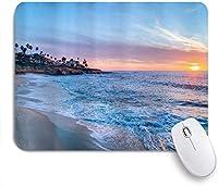 PATINISAマウスパッド オーシャンビーチサンセットブルースカイ ゲーミング オフィス最適 高級感 おしゃれ 防水 耐久性が良い 滑り止めゴム底 ゲーミングなど適用 マウス 用ノートブックコンピュータマウスマット