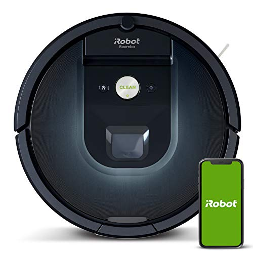 iRobot Roomba 981 robot vacuum with 3-stage cleaning system, room mapping, carpet turbo mode, two multi-floor brushes, WLAN vacuum cleaner robot for hard floors, carpets and animal hair, app control