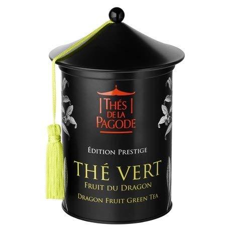 Thés de La Pagode - Té verde Fruta del Dragón - Edición de prestigio - Caja de 100 gramos - Un té gourmet y exótico