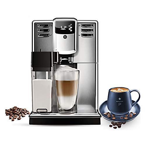 Kokof - Máquina de café para uso doméstico, cafetera de leche automática para cafetera automática, para oficina, casa, con sistema de espumación automática