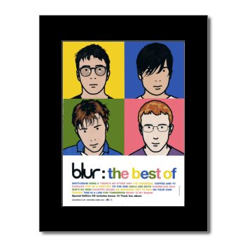BLUR - The Best Of Matted Mini Poster - 28.5x21cm