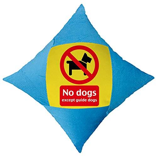 OFFbb-USA - Funda decorativa para cama de coche, diseño de perro con logotipo de 'No Perros Excepto Perros Guid'
