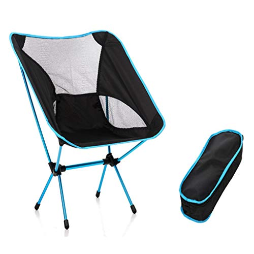 Klappbarer Campingstuhl mit Tragetasche – kompakter, ultraleichter Faltbarer bis 330 lb Strandstuhl Angelstuhl Klapphocker Outdoor Camping Stuhl für Rucksackreisen, Wandern, Camping (Himmelblau)