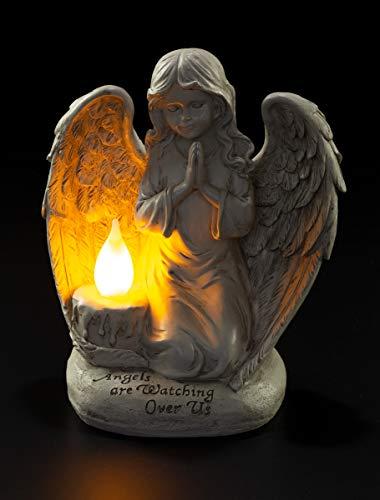 Praying Angel Watching Over Us Solar Powered LED Outdoor Decor Garden Light