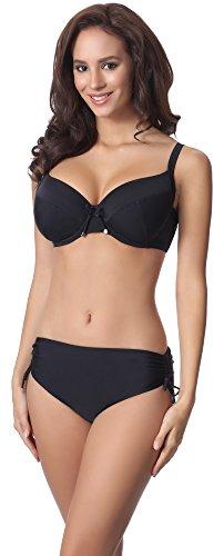 Merry Style Damen Bikini Set P61830 (Schwarz, Cup 85 B/Unterteil 42)