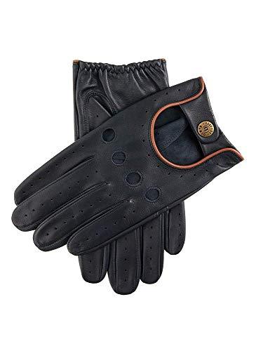 Dents Navy/Tan Delta Hairsheep Leder Klassisch Fahren Handschuh - Klein