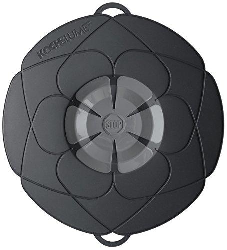 Kochblume Deckel, Silikon, Schwarz, 29 cm