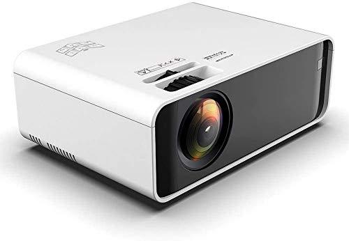 SAFGH Mini proyector, Proyector de Video en la Misma Pantalla W80, Proyector LCD HD portátil 3D de 720p, Proyector de Cine en casa con Reproductor Multimedia Blanco/VGA/USB/AV/Laptop/Tel