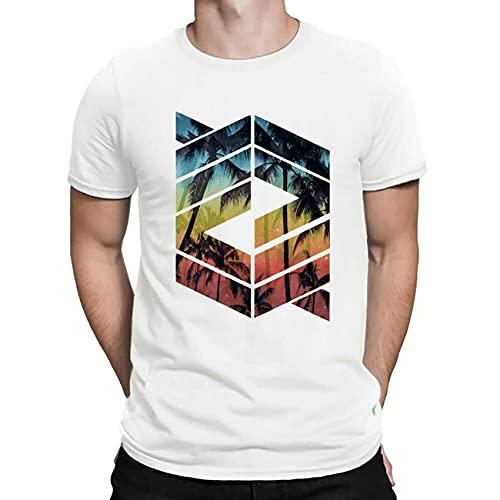 Camiseta Estampada de Verano para Hombre, Camiseta Informal de Playa para Hombre, Media Manga