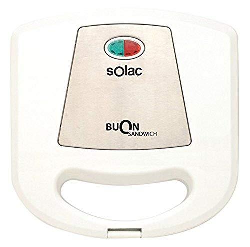 Solac SD5052 SD5052-Sandwichera (Placas antiadherentes), Color Blanco, 780 W