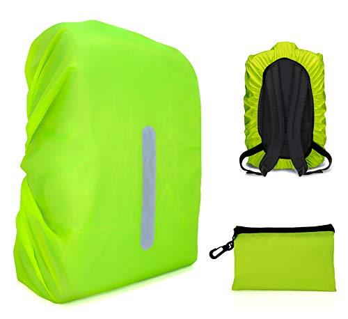 MyGadget Housse de Sac à Dos Impermeable - Protection Anti Pluie Etanche Ajustable 30L / 50L Cyclisme Camping Voyage Ski Jaune Fluo