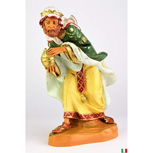 Fontanini Rey Magio Mulatto con mirra, 19 cm