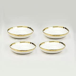 Yedi Houseware New Bone China Set of 4 Soup Plates