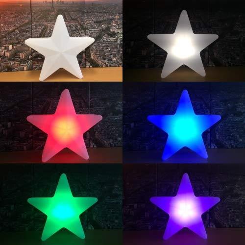 Nachtlampje kinderkamer LED-lamp Star Stars 40 cm 16 kleuren RGB wit oplaadbare afstandsbediening