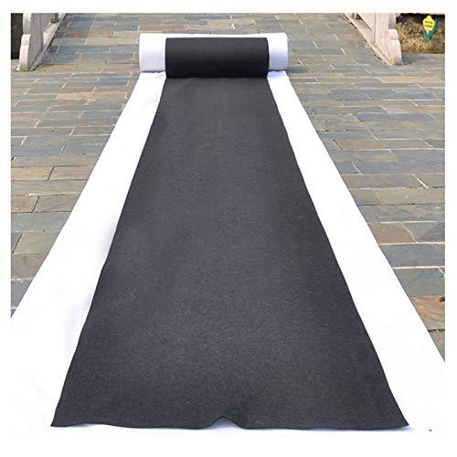Corredor De Alfombra Negra Alfombra Negra, Corredores De Pasillo De Poliéster De 2.2 Mm De Espesor Para Fiesta De Fiesta De Fiesta, Alfombras Desechables Para Interio(Size:1×10m(3×33ft),Color:negro)