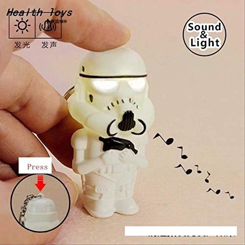 Llavero Linterna Led Darth Vader Star Guerra Yoda Llaveros Anakin Skywalker Llaveros Figura Asalto