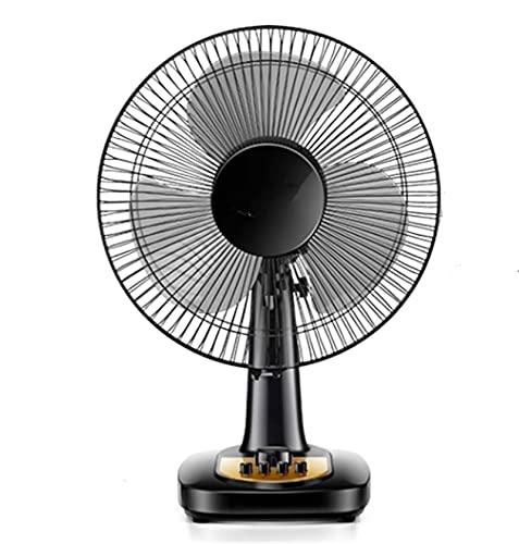 Ventilador de escritorio de 12 pulgadas, refrigeración tranquila 3 velocidades Configuración de tiempo Ventilador, ventilador de mesa de silencio eléctrico oscilante, para oficina de oficina, negro