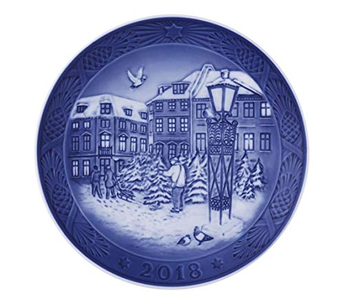 Royal Copenhagen 1024792 Xmas Plate Series RC - Piatto natalizio, in porcellana, multicolore