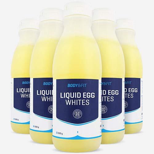 Body & Fit Flüssiges Eiweiß Protein Drink Eiklar - 6 x 485ml