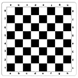 WE Games Black Mousepad Chess Board, 20 inches - Made in USA