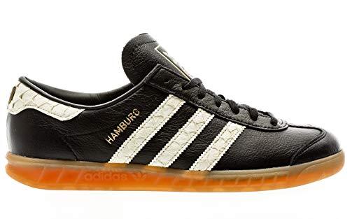 adidas Hamburg, Zapatillas para Hombre, Core Black/FTWR White/Lush Red, 44 2/3 EU