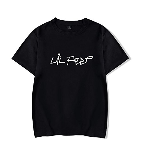 BESTHOO Unisex Lil Peep Rundhalsausschnitt Sommer T-Shirt Street Style Liebhaber T-Shirt Crybaby Cool Casual Kurzarm Top Tee für Mann und Frau