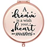 Onederful Inspirational Quotes and Saying Travel Compact Pocket Mirror for Sister Daughter Niece Friend from Mom Dad Friend Aunt,Birthday Christmas Graduate Gifts Ideas for Her-A Dream