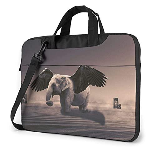 Bolsa de hombro para ordenador portátil Flying Wing Elephant Bolsa de ordenador portátil Bolsa de hombro Messenger Maletín 13/14/15.6 pulgadas