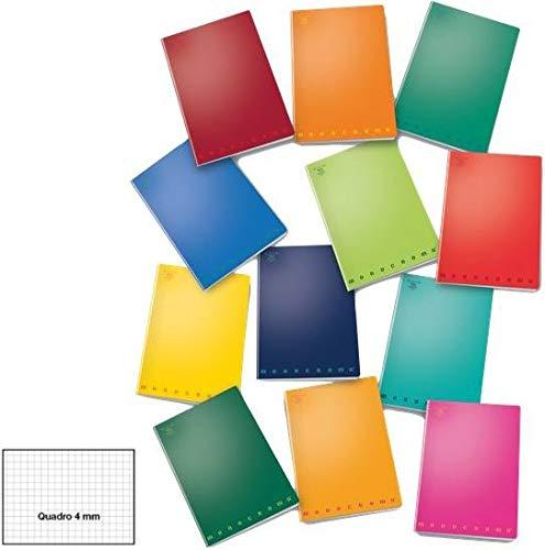 Pigna Rigatura 4M Quadretti 4Mm Quaderni A4 Maxi, Multicolore, 8005235024120