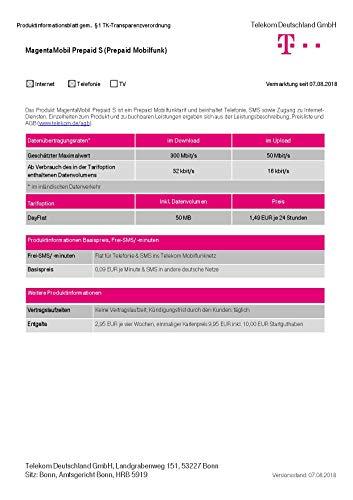 Magenta Mobil Start S Xtra Karte Telekom 10 Euro Guthaben Prepaid Handy SIM T-Mobile zum selber registrieren