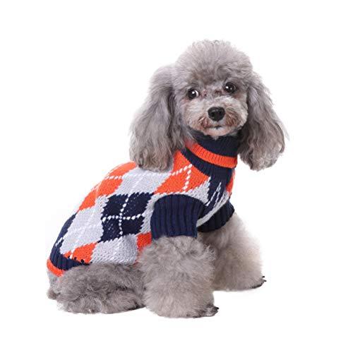 POPETPOP Weihnachten Pet Kostüme Pet Cloth-Weihnachtsschnee-Muster Hundehalsband Nylon Hundehalsketten-Tierbedarf für Hundewelpen (Größe L)