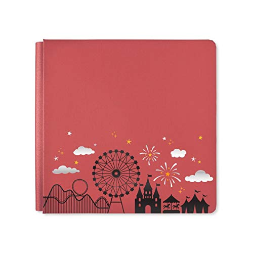 12x12 Cinnamon Sparkle Magic Await Album Cover Amusement Theme Park Theme Flex Hinge Photo Safe Creative Memories Album