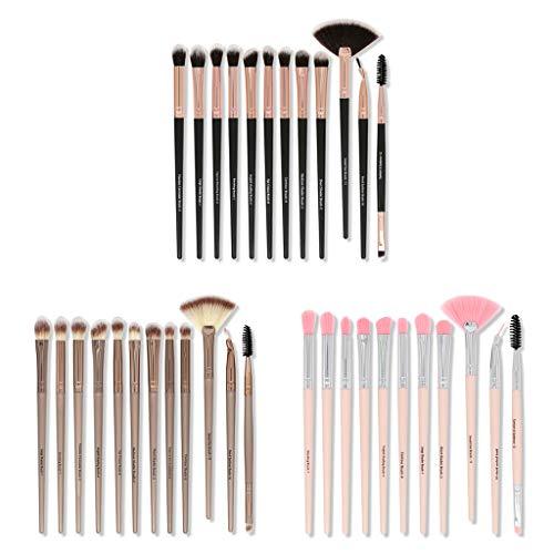S-TROUBLE Pinceaux de Maquillage Fibre synthétique pour Les Cheveux Ombre à paupières Mélange Eyeliner Brosse à Sourcils