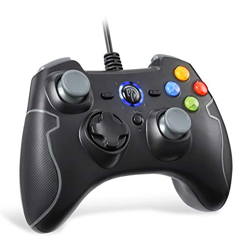 REDSTORM PC Controller für PS3/ Windows PC, Kabelgebundener Game Controller Gamepad mit Turbo-Funktion(Dauerfeuer), Plug and Play, Dual Vibration