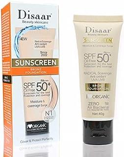 Disaar Facial Body Sunscreen Cream Sunblock PA++ Skin Protective Cream Anti-Aging Oil-control Moisturizing SPF 50 Face Ski...