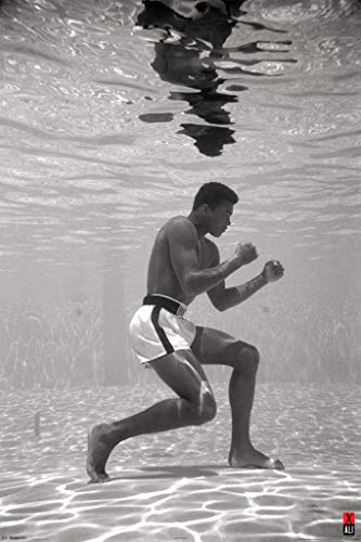Pyramid America Muhammad Ali Underwater Boxing Sports Cool Wall Decor Art Print Poster 24x36