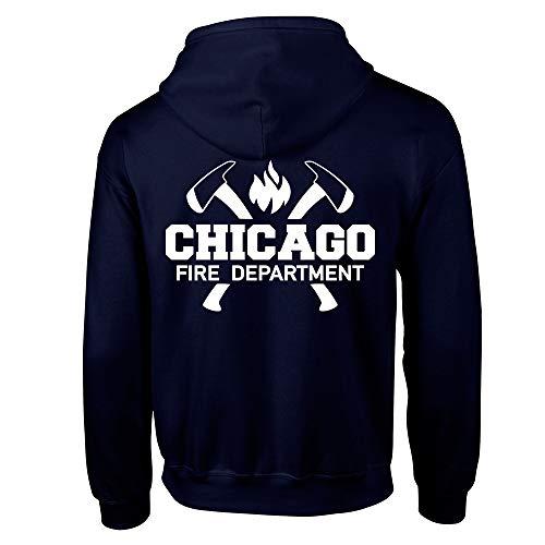Chicago Fire Dept. - Sweatjacke mit Axt-Logo (S)