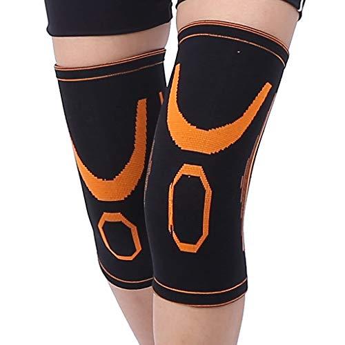 DLJJJ Outdoor Fitness Knieorthese Unterstützung Hohe Elastische Sports Kniebandage Compression Sleeve Anti-Rutsch-Jogging Basketball Skifahren Knie Ärmel Männer Frauen