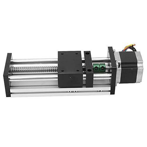 CENPEN Carril de guía lineal del tornillo de la bola del eje doble de la aleación de aluminio con 57 motor carrera efectiva 300m m para la industria de la automatización (1605)