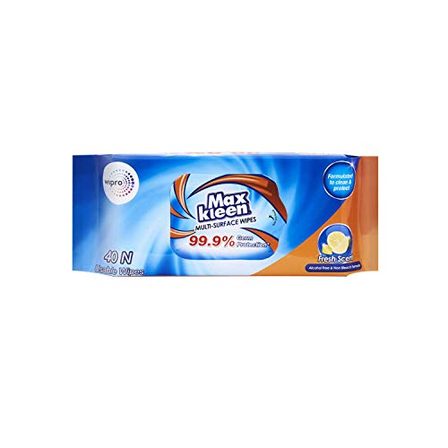 Maxkleen Multi-Surface Wipes by Wipro, 315g (Pack of 2)