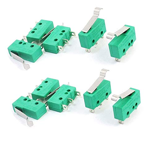 tatoko Micro Switch Hinge Lever Switch KW4-3Z-3 for Mill CNC AC 125V 5A 10pcs