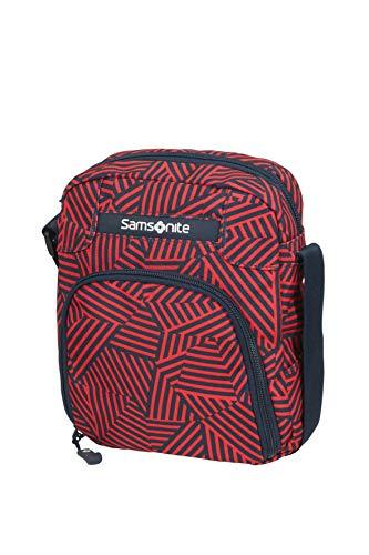 Samsonite Rewind Tracolla, 23 cm, 4.5 L, Rosso (Capri Red Stripes)