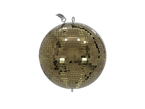 Eurolite Spiegelkugel 30cm gold | Sicherheits-Discokugel mit goldenen Facetten | Perfekt zur Dekoration | Partyraum | Schaufenster