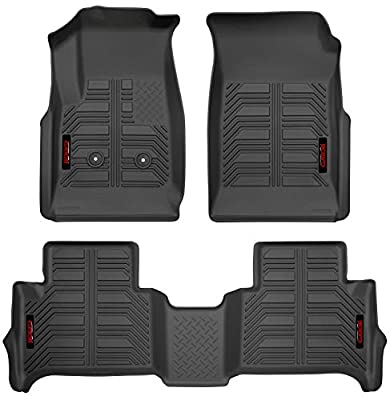 Gator Accessories 79609 Black Front and 2nd Seat Floor Liners Fits 15-19 Colorado/Canyon Crew Cab, Combo Set