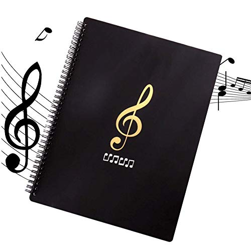 Carpeta de Archivos de Música, Tamaño A4,Impermeable Almacenamiento,30 Páginas y 60 Caras,Organizador de Archivos