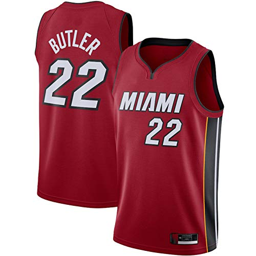 ERERT Miami Heat #22 Jersey Uniforme Jerseys Jimmy Jerseys Fan Shirt Chaleco Butler Baloncesto Hombres Baloncesto Jersey Sin Mangas Chaleco - Rojo