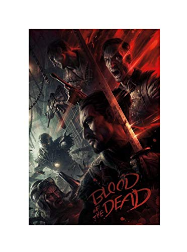 Call of Duty Black Ops 4 Blood of The Dead Zombies Art Print Size 13x20 24x36 27x40 32x48 (24'x36'(60x91cm))